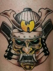 盔甲武士头部纹身图片