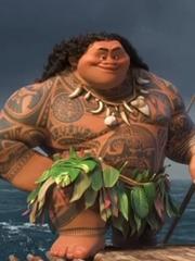 迪士尼3D电影《海洋奇缘》里的卡通人物部落图腾纹身图案