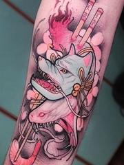 让人着迷的新传统风格动物图案纹身来自纹身师基