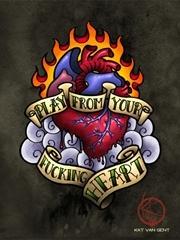 艺术创意心脏纹身图案