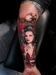 二十多款艺妓彩绘纹身图案