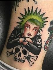 精致的传统风格人物纹身图案来自莫伊拉