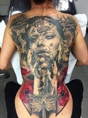 几款霸气的满背大面积纹身图案欣赏