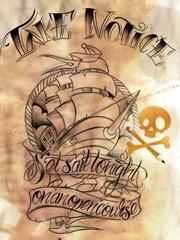 英国霸气巨轮纹身图片