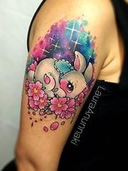 可爱的小马驹宝莉纹身卡通人物纹身图案