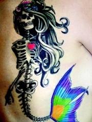 多款漂亮的美人鱼主题纹身图案