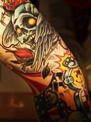 个性花臂纹身图片