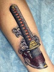 4款清晰的日本武士刀纹身图案