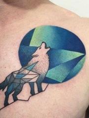 多种风格凶猛的狼纹身图案