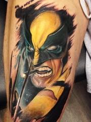 经典超级英雄金刚狼动漫人物的纹身图案