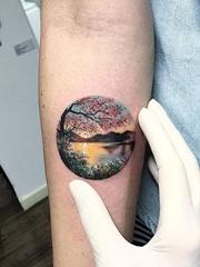 女神纹身小清新植物纹身动物纹身风景纹身图案