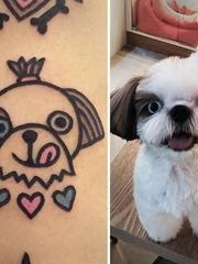 看起来如此可爱的宠物纹身图案