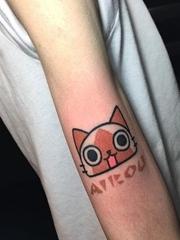 彩色女神纹身小清新风格简单个性线条纹身图案