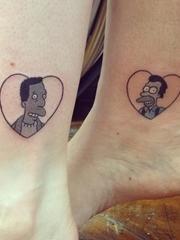 彩色的创意情侣纹身和闺蜜纹身女生可爱纹身图案