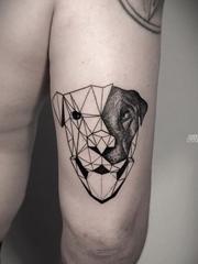 黑色的几何纹身动物素描纹身点刺技巧纹身图案
