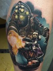 卡通彩色纹身生化奇兵纹身系类游戏人物纹身图案