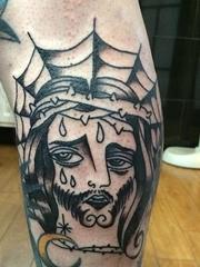 黑色简单个性线条纹身传统的新时代怪异纹身图案