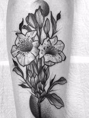 14款黑色简易纹身素描抽象线条纹身点刺技巧图案