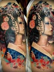 三十多款好看的艺妓纹身图案