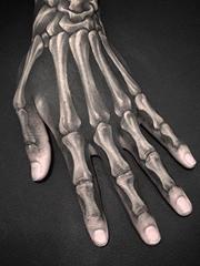 黑色的x射线纹身骨头和骷髅头纹身图案