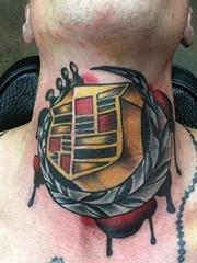 凯迪拉克标志纹身花体英文字汽车纹身图案大全