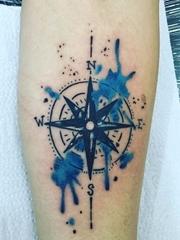 14款黑色简单个性线条纹身水彩泼墨纹身图案