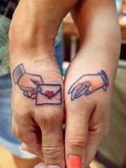 情侣手腕定情信物纹身图案