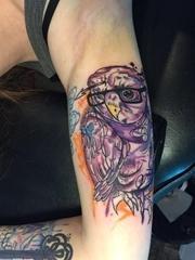 黑色粗线条纹身动物简易纹身素描彩色涂鸦纹身图案