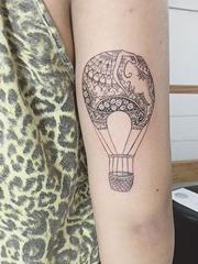 31款女神纹身小清新风格可爱的大象纹身动物图案