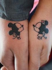一组精致的情人爱侣相关主题的纹身图案欣赏