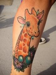 多款可爱的动物长颈鹿纹身图案