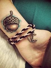 女生简约线条纹身点刺技巧图案