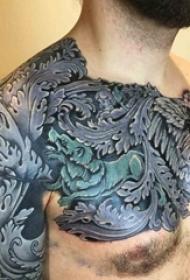 黑灰纹身风格巴洛克纹身图案
