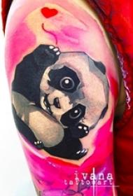 一组既可爱又霸气的小熊猫纹身小动物纹身图案