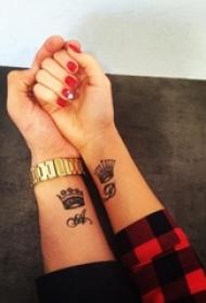 情侣小清新系列纹身图案