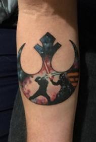 手臂上彩绘纹身技巧原宿星空纹身欧美船锚纹身图片