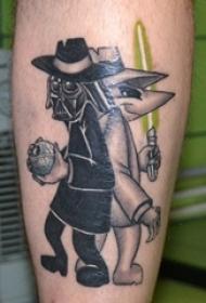 搞笑卡通纹身动漫人物间谍兄弟纹身小图案