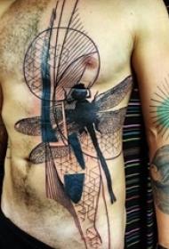 一组简单个性线条几何元素纹身图案