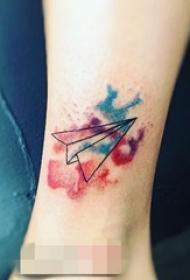 15款创意折纸几何元素简单个性线条小动物纹身图案