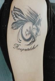 手臂创意的沉睡小精灵纹身图案