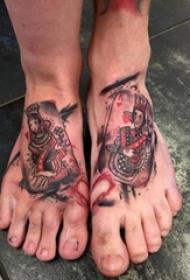 一组女王系列人物肖像纹身和简单小纹身图案