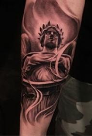 超个性的纹身黑白灰风格纹身点刺技巧抽象线条纹身图案