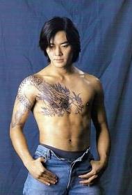 古惑仔陈浩南披肩龙纹身图案