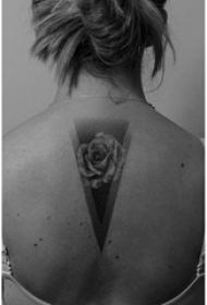 15款黑白灰风格纹身点刺技巧几何元素纹身图案