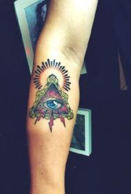 手臂上彩绘的上帝之眼纹身图案