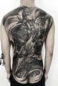 满背神将赵子龙纹身图案