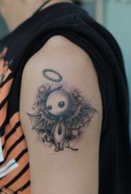 手臂时尚的抽象天使刺青图案