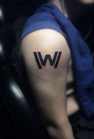 手臂独特英文字母纹身图案