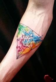一组大胆的水彩泼墨彩绘技巧渐变纹身图案大全
