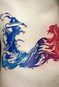 11款抽象线条艺术彩绘技巧个性纹身图案